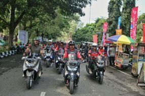 Walikota Solo F.X.Hadi Rudyatmo city touring Nmax bersama komunitas Surakarta Max Owners